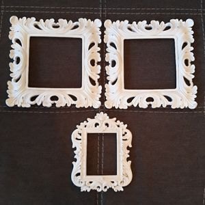 Resin frames, set of 3